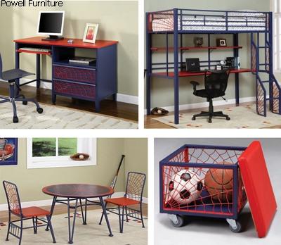 подростковая мебель с декором в виде паутины