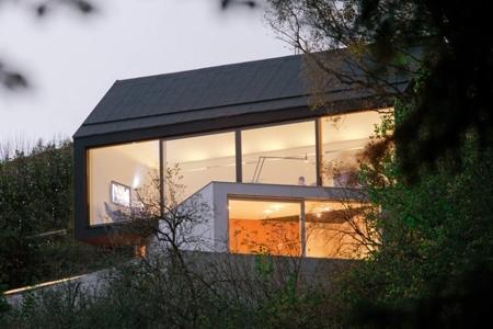 стеклянные фасады дома
