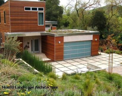 озеленение крыши гаража