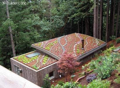 мозаичное озеленение крыши