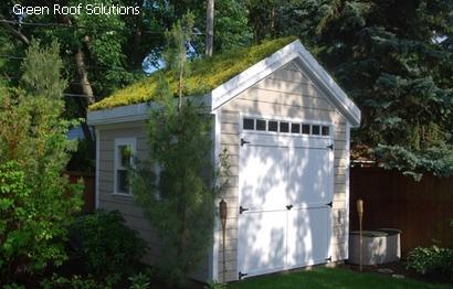 зеленая двухскатная крыша
