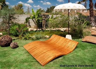 роскошный лежак в ландшафтном дизайне