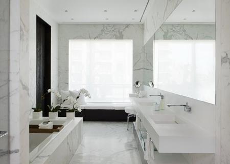 мраморная облицовка ванной