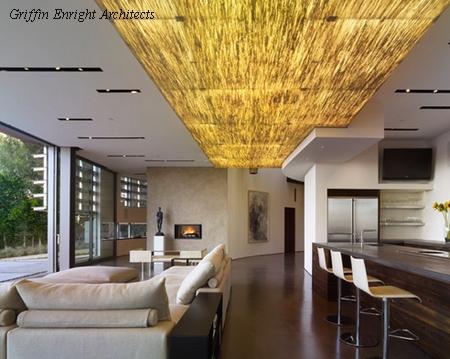 световой короб в дизайне потолка