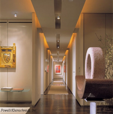 конструкция и отделка потолка для длинного коридора