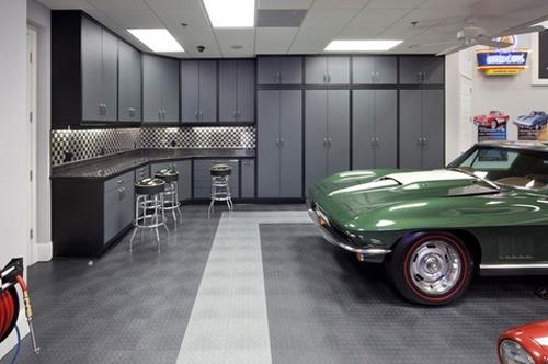 современный пол в гараже