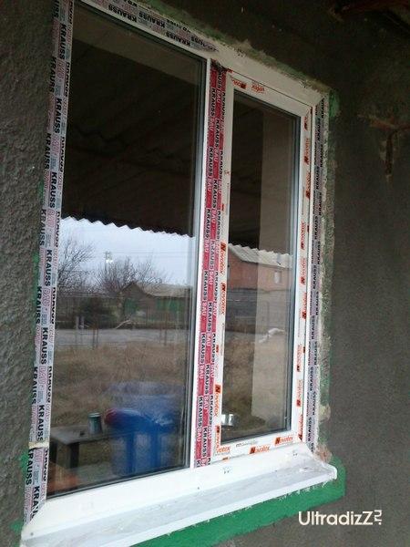 новые окна до установки решеток