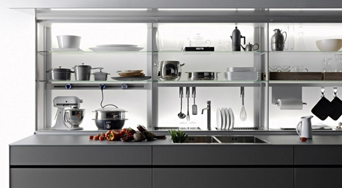 левая сторона кухни Logica Kitchen System