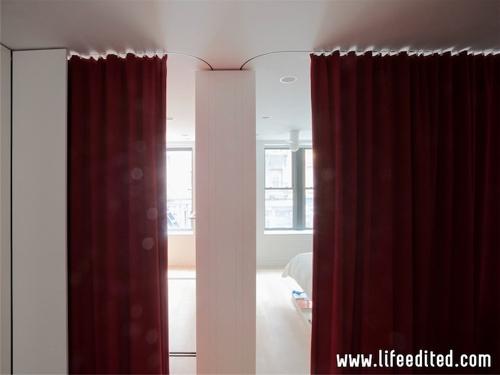 использование шторок вместо межкомнатных дверей