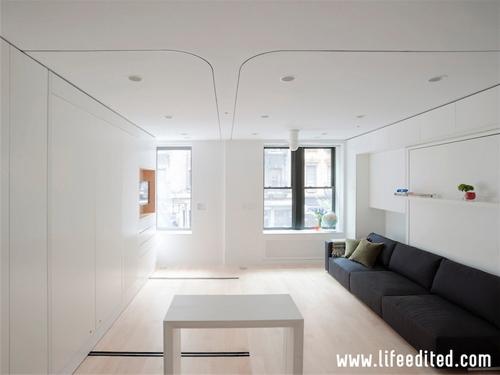 раздвижной стол в маленькой квартире