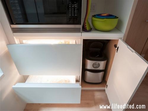 встроенное оборудование в интерьере маленькой кухни