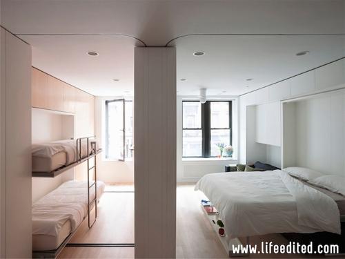 мобильное разделение одной комнаты на две спальни