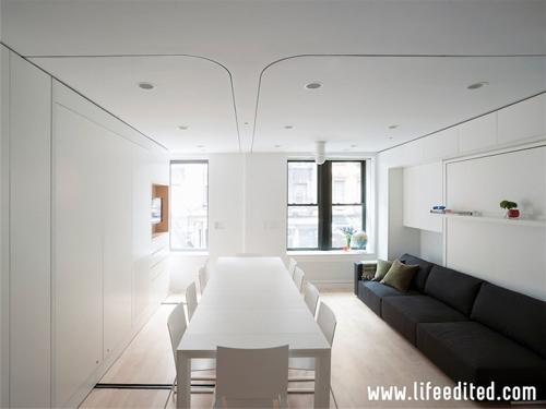 большой стол в маленькой квартире