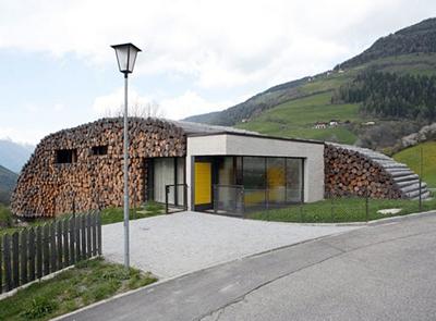 оригинальный дизайн дома на две семьи