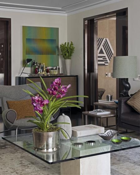 роскошный декор гостиной