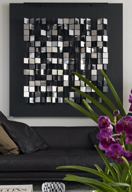 роскошное оформление стены в современном стиле