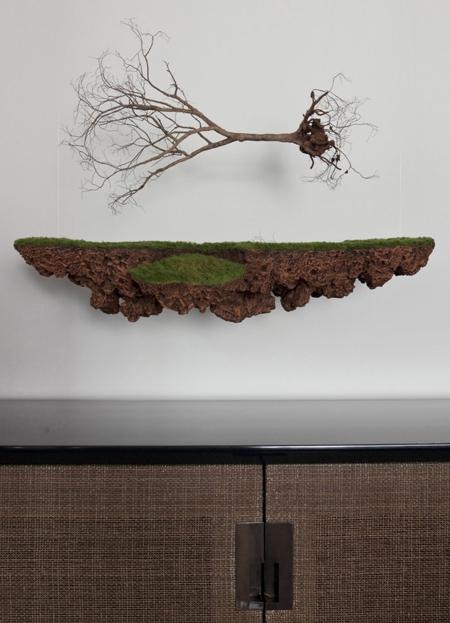 оригинальный скульптурный декор стены