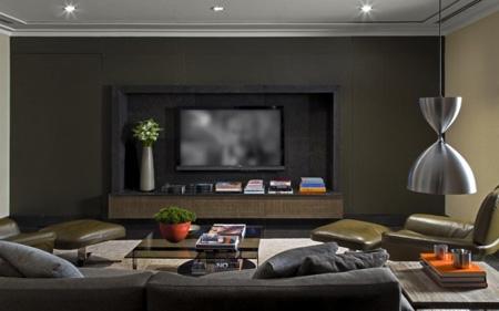 симметричный дизайн домашнего кинотеатра