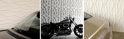рельефные стеновые панели в гараже