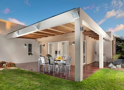 современный крытый двор
