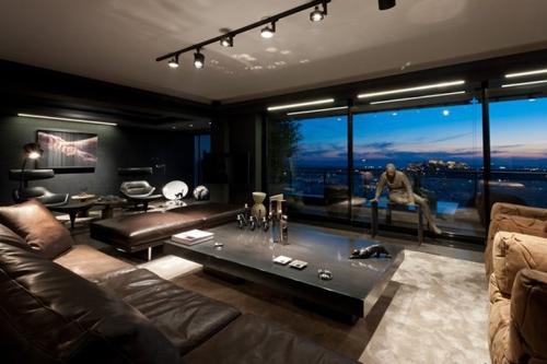 элитный черно-белый дизайн квартиры