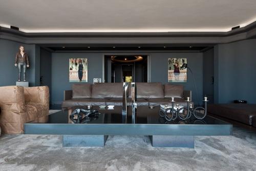 оригинальная мебель в интерьере гостиной