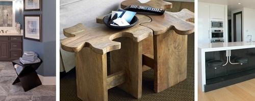 деревянные и металлические табуреты