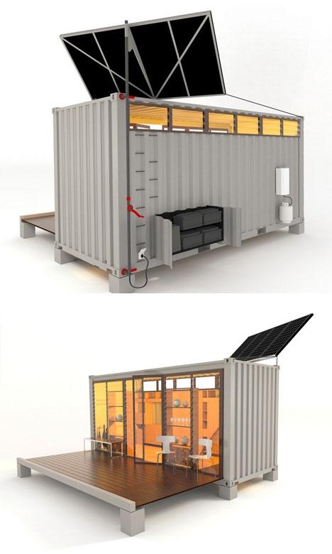 проект раскладного летнего домика из контейнера