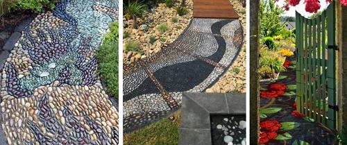садовые дорожки с мозаичным мощением