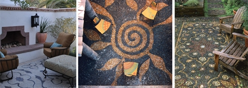 дворовые площадки с мозаичным мощением