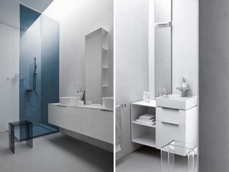 сантехника из сафиркерамики и мебель из пластика для ванной