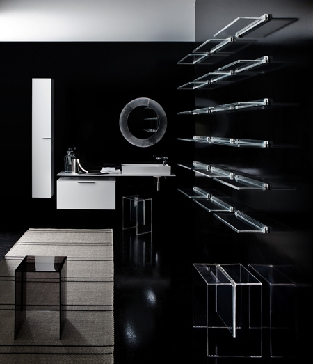 стильная пластиковая мебель для ванной