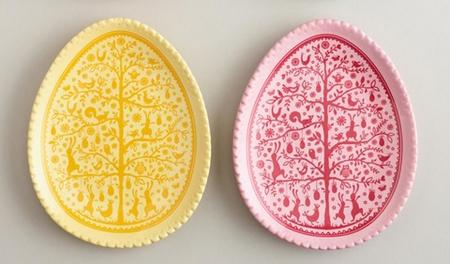 пасхальные тарелки в форме яиц