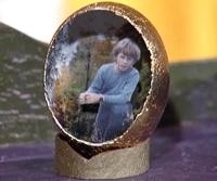 необычный декор пасхального яйца