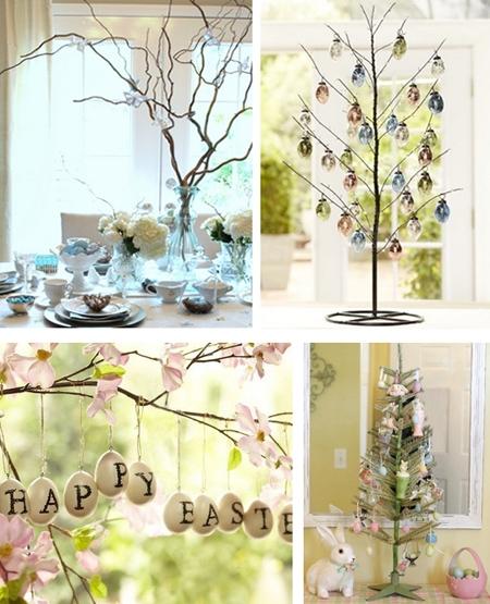пасхальные деревья в декоре дома