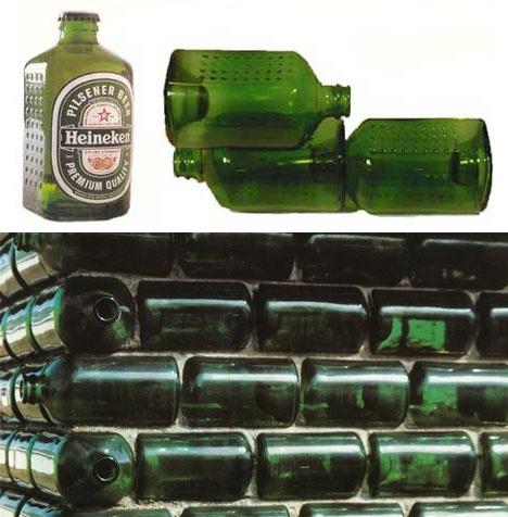 прямоугольные бутылки как строительные блоки
