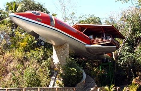 дом из старого самолета