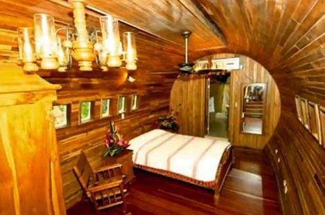 внутренняя отделка дома из самолета