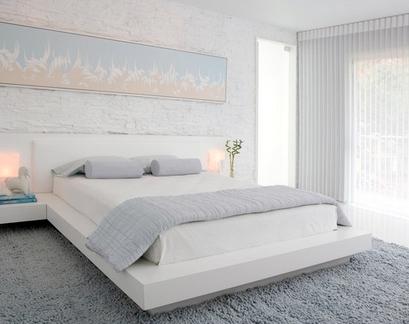 элегантная серая спальня