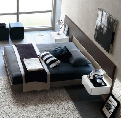серая спальня для мужчины