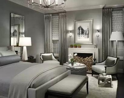 роскошная серая спальня