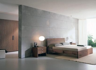 стильная серая спальня