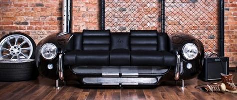 роскошный диван из частей автомобиля