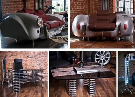 мебель из престижных автомобилей