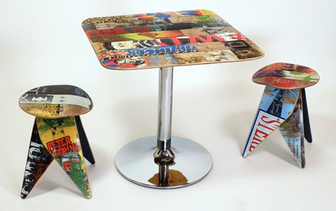 мебель из старых скейтбордов