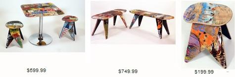 стоимость мебели из старых скейтбордов