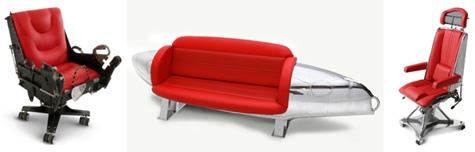 мягкая мебель из частей самолетов