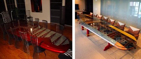 переговорные столы из старых самолетов