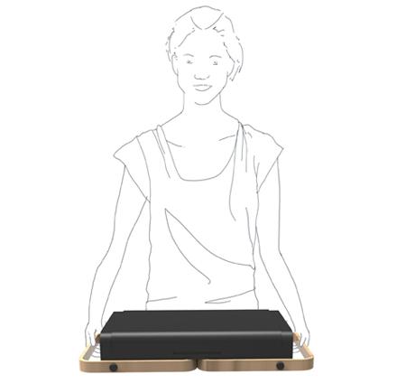 использование столика для переноски ноутбука