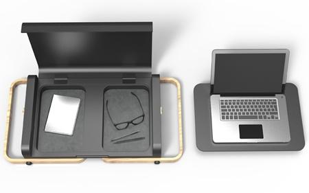 столик для ноутбука с блоками для хранения